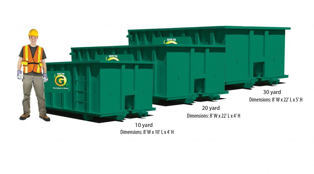 Dumpster size comparison